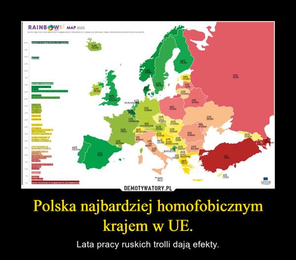 Polska najbardziej homofobicznym krajem w UE. – Lata pracy ruskich trolli dają efekty.