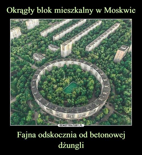 Okrągły blok mieszkalny w Moskwie Fajna odskocznia od betonowej dżungli
