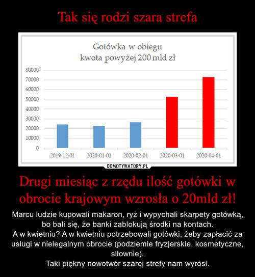 Tak się rodzi szara strefa Drugi miesiąc z rzędu ilość gotówki w obrocie krajowym wzrosła o 20mld zł!