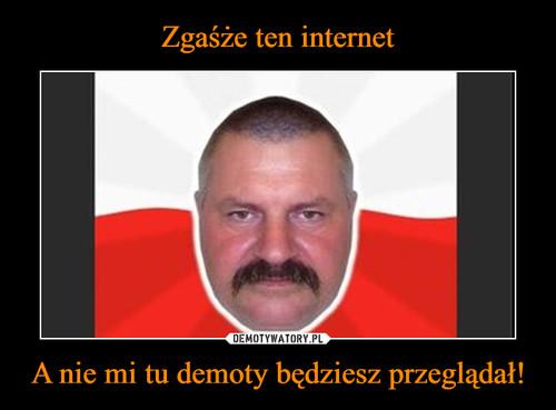 Zgaśże ten internet A nie mi tu demoty będziesz przeglądał!