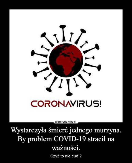 Wystarczyła śmierć jednego murzyna. By problem COVID-19 stracił na ważności.