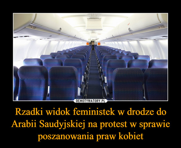 Rzadki widok feministek w drodze do Arabii Saudyjskiej na protest w sprawie poszanowania praw kobiet –