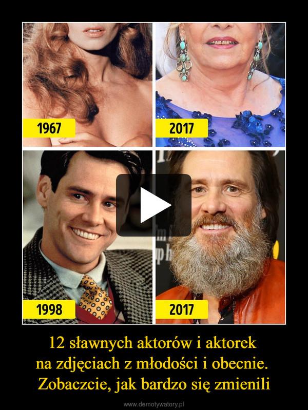 12 sławnych aktorów i aktorek na zdjęciach z młodości i obecnie. Zobaczcie, jak bardzo się zmienili –