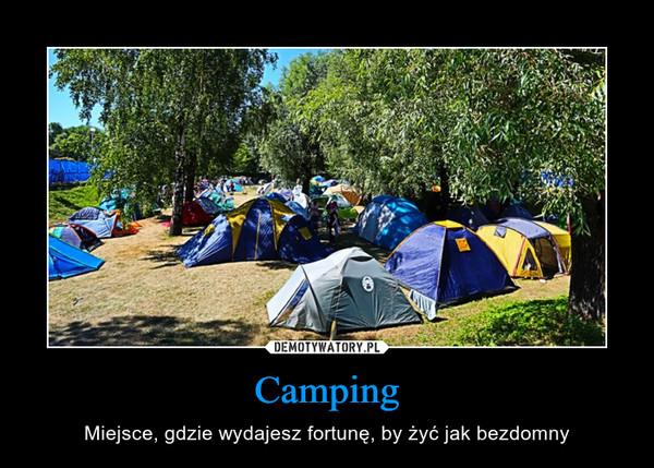 Camping – Miejsce, gdzie wydajesz fortunę, by żyć jak bezdomny