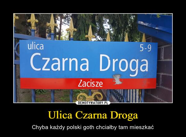 Ulica Czarna Droga – Chyba każdy polski goth chciałby tam mieszkać
