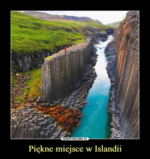 Piękne miejsce w Islandii –