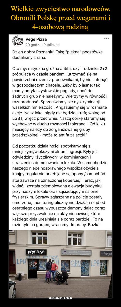 Wielkie zwycięstwo narodowców. Obronili Polskę przed weganami i 4-osobową rodziną
