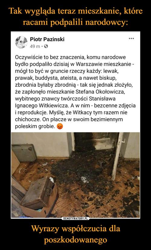 Tak wygląda teraz mieszkanie, które racami podpalili narodowcy: Wyrazy współczucia dla poszkodowanego