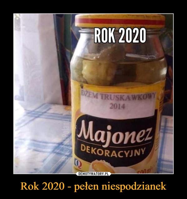 Rok 2020 - pełen niespodzianek –