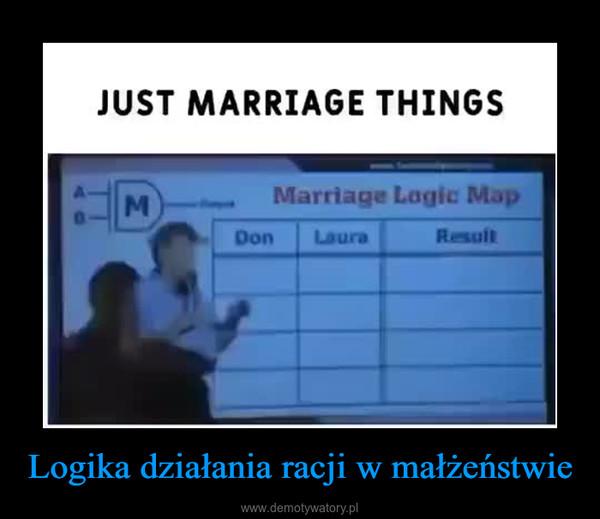 Logika działania racji w małżeństwie –