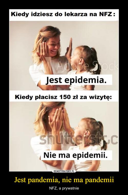Jest pandemia, nie ma pandemii