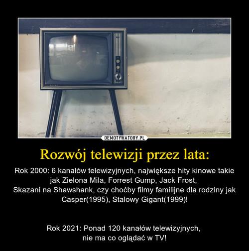 Rozwój telewizji przez lata: