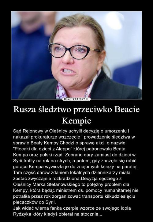 Rusza śledztwo przeciwko Beacie Kempie