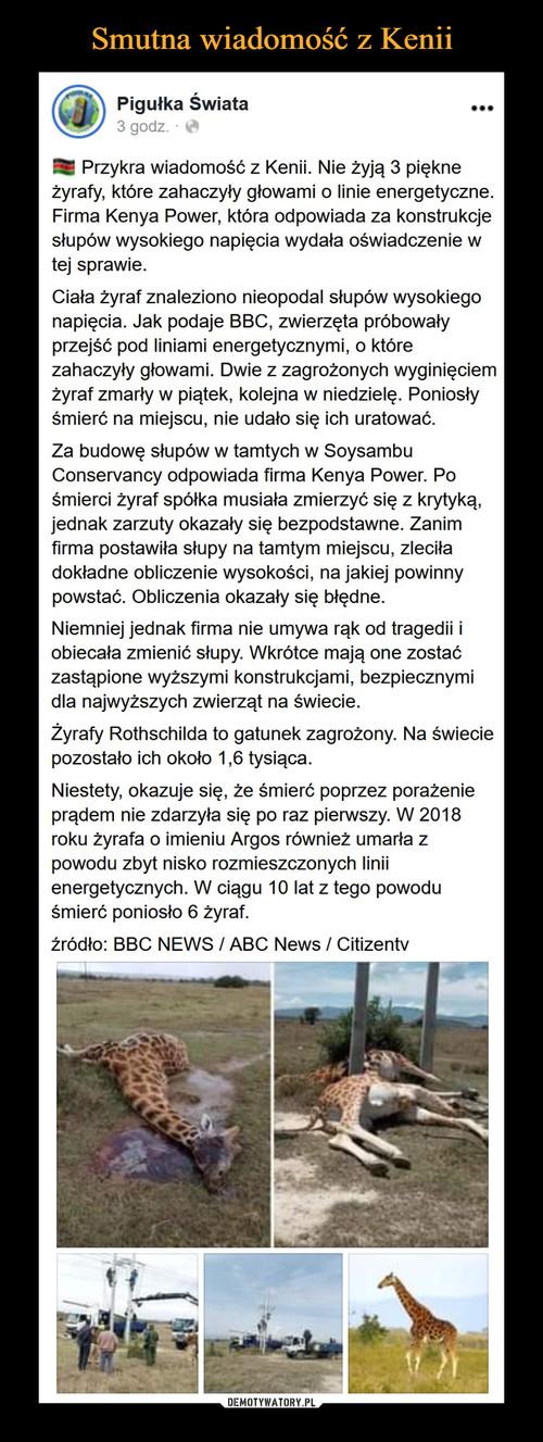 Smutna wiadomość z Kenii