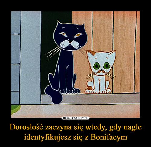 Dorosłość zaczyna się wtedy, gdy nagle identyfikujesz się z Bonifacym