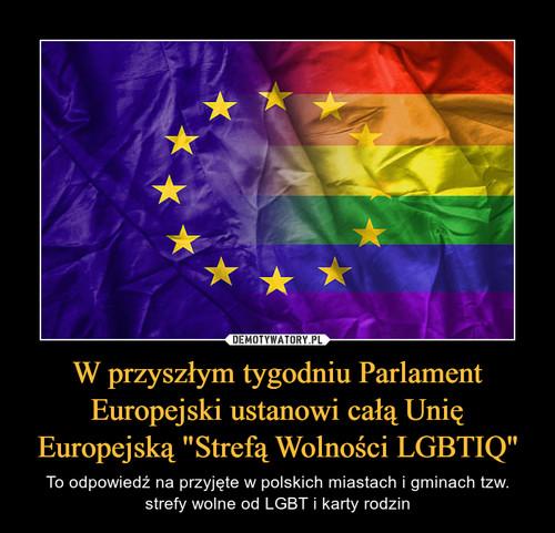 """W przyszłym tygodniu Parlament Europejski ustanowi całą Unię Europejską """"Strefą Wolności LGBTIQ"""""""