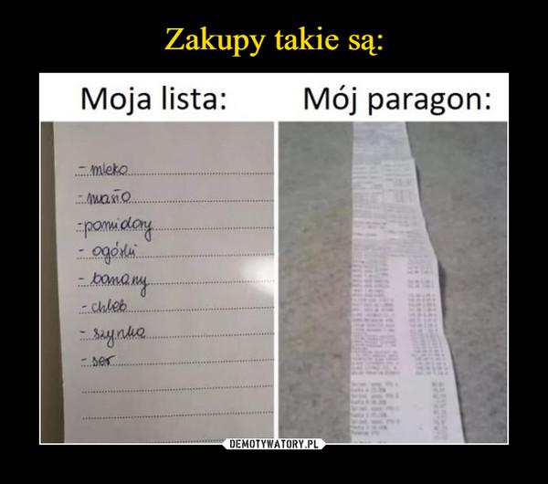 –  moja lista mój paragon
