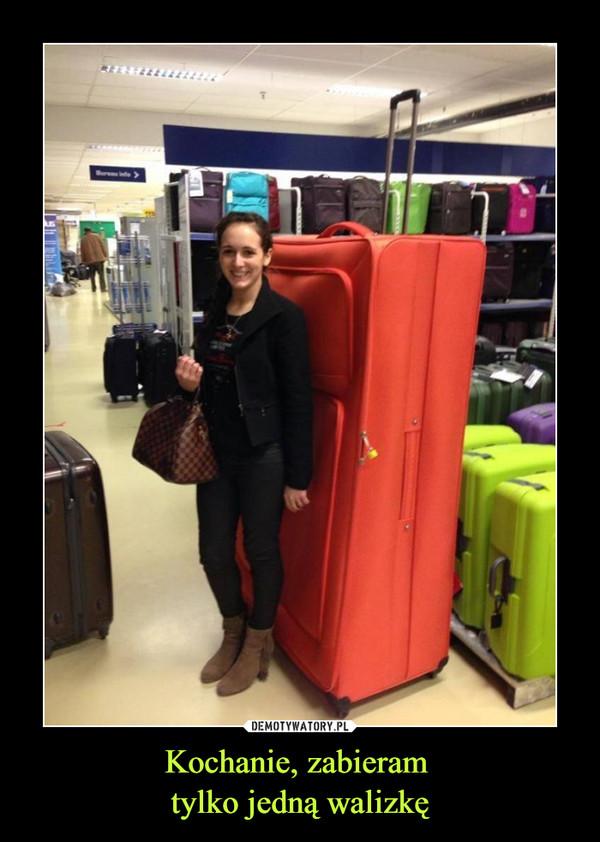 Kochanie, zabieram tylko jedną walizkę –