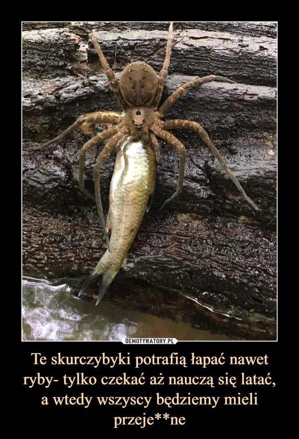 Te skurczybyki potrafią łapać nawet ryby- tylko czekać aż nauczą się latać,a wtedy wszyscy będziemy mieli przeje**ne –