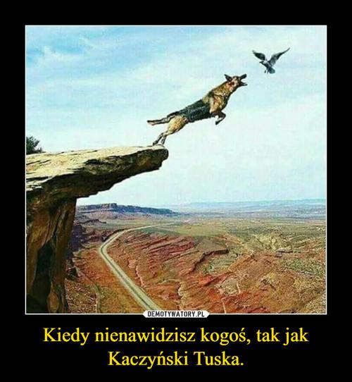 Kiedy nienawidzisz kogoś, tak jak Kaczyński Tuska.