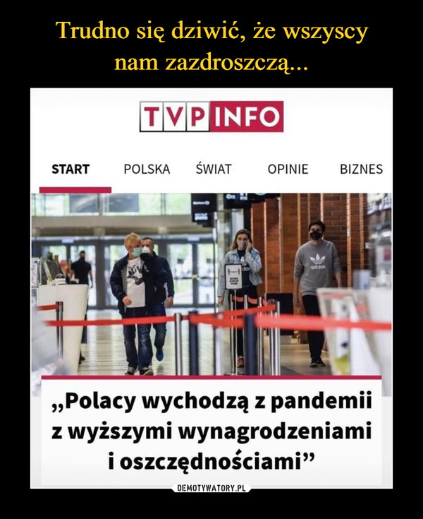 """–  """"Polacy wychodzą z pandemii z wyższymi wynagrodzeniami i oszczędnościami"""""""