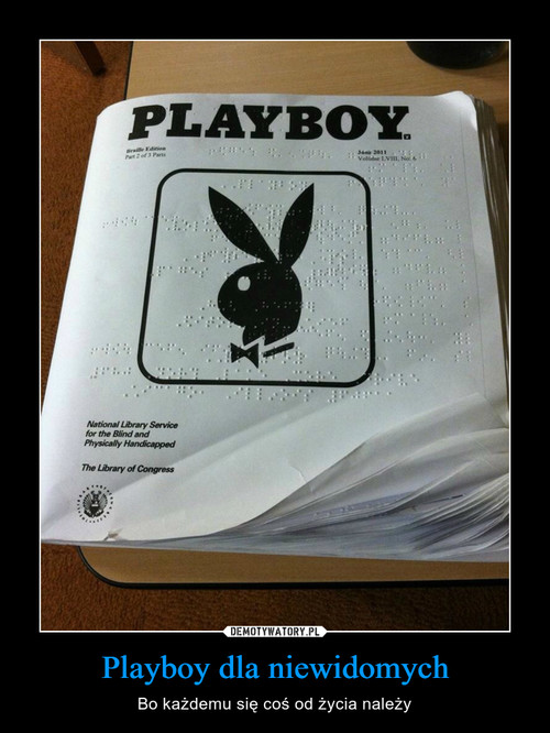 Playboy dla niewidomych