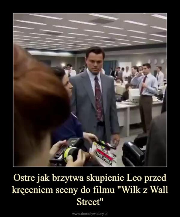 """Ostre jak brzytwa skupienie Leo przed kręceniem sceny do filmu """"Wilk z Wall Street"""" –"""