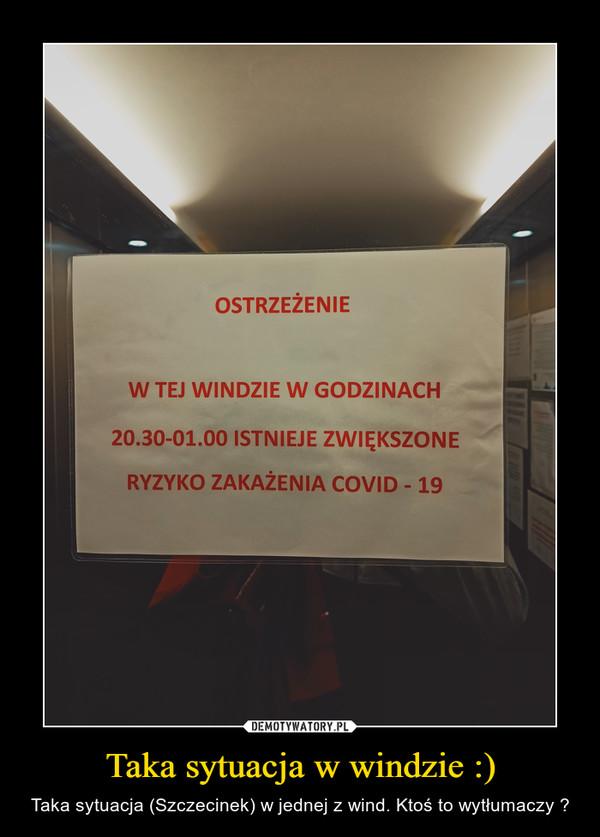 Taka sytuacja w windzie :) – Taka sytuacja (Szczecinek) w jednej z wind. Ktoś to wytłumaczy ?