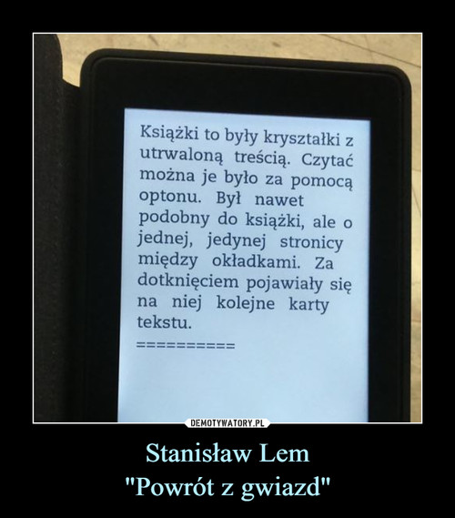 """Stanisław Lem """"Powrót z gwiazd"""""""
