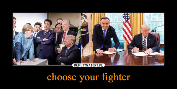 choose your fighter –