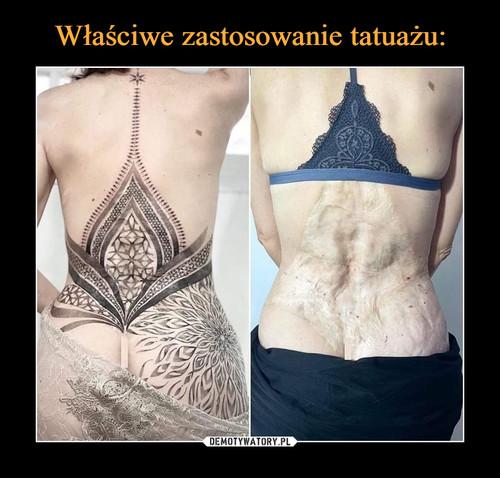 Właściwe zastosowanie tatuażu:
