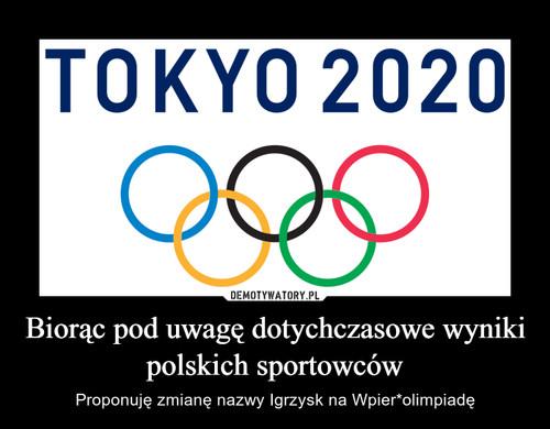 Biorąc pod uwagę dotychczasowe wyniki polskich sportowców