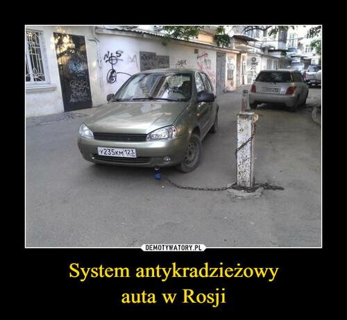 System antykradzieżowy auta w Rosji
