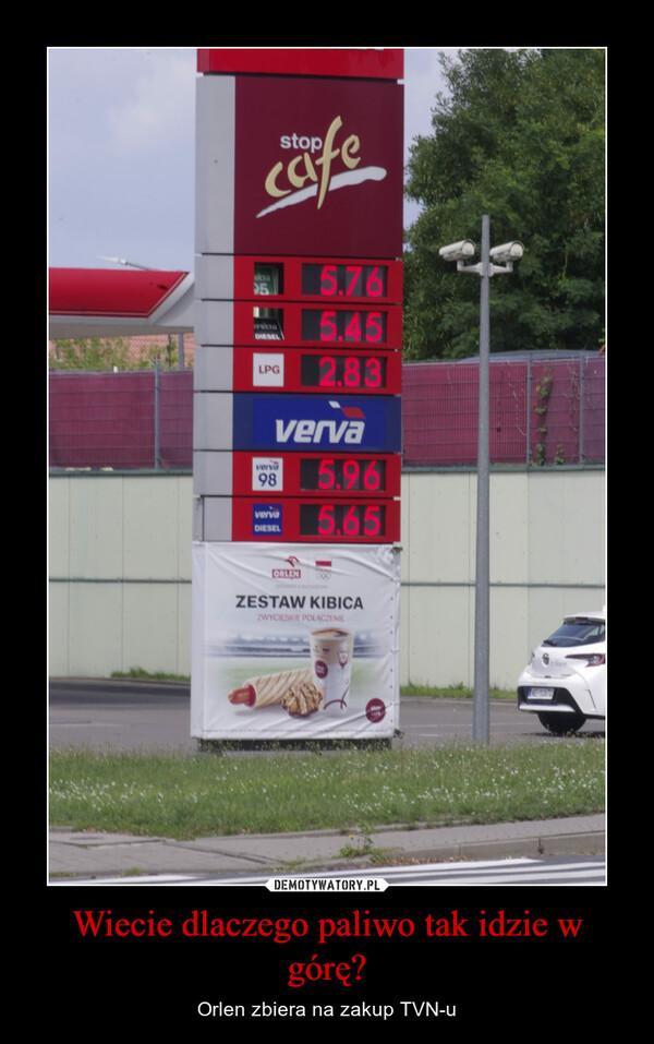 Wiecie dlaczego paliwo tak idzie w górę? – Orlen zbiera na zakup TVN-u