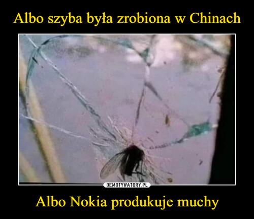 Albo szyba była zrobiona w Chinach Albo Nokia produkuje muchy