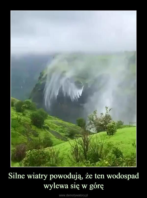 Silne wiatry powodują, że ten wodospad wylewa się w górę –