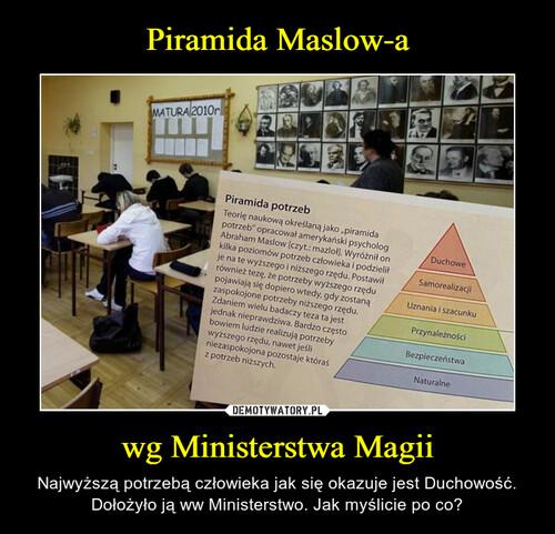 Piramida Maslow-a wg Ministerstwa Magii